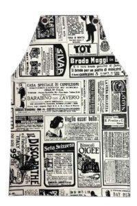 סינר קנבס מראה עיתון