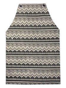 סינר קנבס משולשים שחור לבן