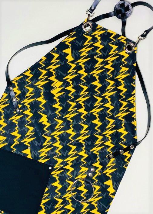 סינר ברק צהוב כיס שחור