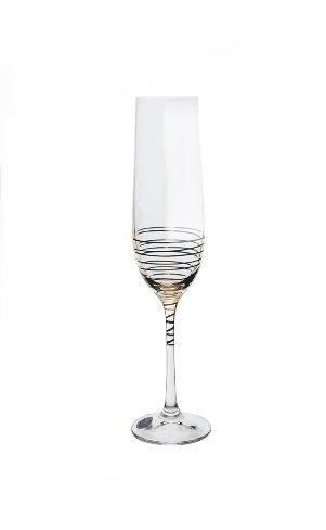 זוג כוסות שמפניה ספירלה