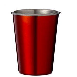 כוס נירוסטה צבע אדום