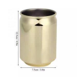 כוס מנירוסטה בצורת הפחית המיתולוגית - זהב