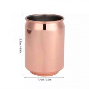 כוס מנירוסטה בצורת הפחית המיתולוגית - ברונזה