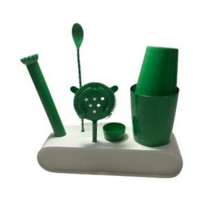 ערכת קוקטיילים בצבע ירוק