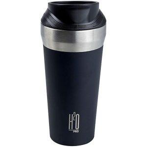 כוס תרמית בצבע שחור מט